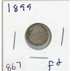 FIVE CENT COIN (CANADIAN) *1899* (SILVER)