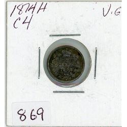 FIVE CENT COIN (CANADIAN) *1874* (SILVER)