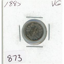 FIVE CENT COIN (CANADIAN) *1885* (SILVER)