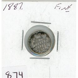 FIVE CENT COIN (CANADIAN) *1887* (SILVER)