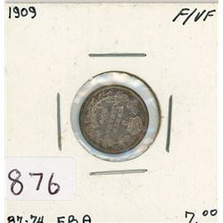 FIVE CENT COIN (CANADIAN) *1909* (SILVER)
