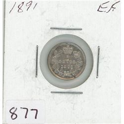 FIVE CENT COIN (CANADIAN) *1891* (SILVER)