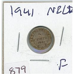FIVE CENT COIN (CANADIAN) *1941* (SILVER)