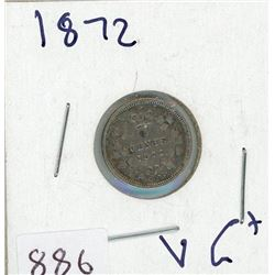 FIVE CENT COIN (CANADIAN) *1872* (SILVER)