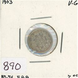 FIVE CENT COIN (CANADIAN) *1903* (SILVER)