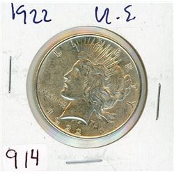 ONE DOLLAR COIN (USA) *1922* (SILVER)