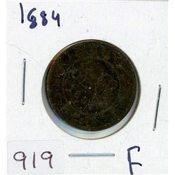 ONE CENT COIN (CANADIAN) *1884* (LARGE)