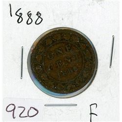 ONE CENT COIN (CANADIAN) *1888* (LARGE)