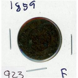 ONE CENT COIN (CANADIAN) *1859* (LARGE)
