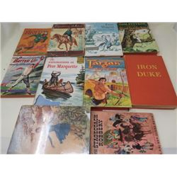 LOT OF 10 BOOKS (FLAGELLANT ON HORSEBACK, THE EXPLORATIONS OF PERE MARQUETTE, BATTER UP, FIGHTING CO