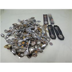 LARGE LOT OF COLLECTABLE SPOONS