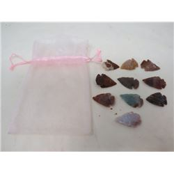 LOT OF 10 SHARP STONES