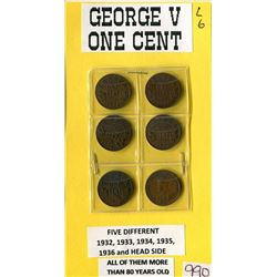 LOT OF ONE CENT COINS (GEORGE V) *1932 - 1936*