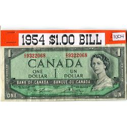 ONE DOLLAR BANK NOTE (CANADIAN) *1954*