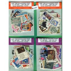 LOT OF 4-100 STAMP PACKAGES