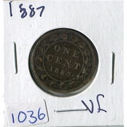 ONE CENT COIN (CANADA) *1887* (LARGE)