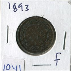 ONE CENT COIN (CANADA) *1893* (LARGE)