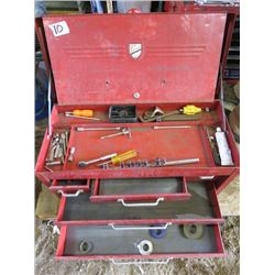 TOOL BOX (METAL) *5 DRAWER* (INCLUDES MISC TOOLS INSIDE)