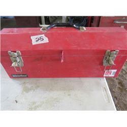 TOOLBOX WITH VARIOUS SIZE SOCKETS
