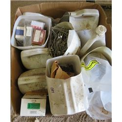 LOT OF MISC SHOP SUPPLIES (BOLTS, NUTS, SCREWS, ETC)
