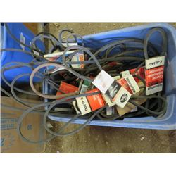 LOT OF BELTS (VARIOUS SIZES)