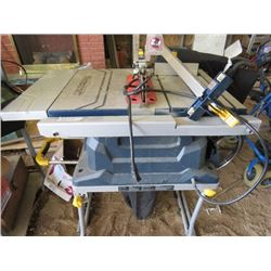 TABLE SAW WITH STAND (MASTERCRAFT)
