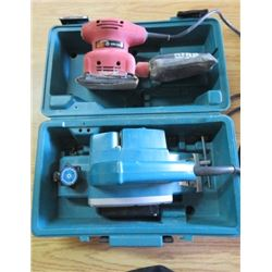POWER PLANER AND SHEET PALM SANDER