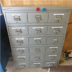 """LARGE METAL TOOL BOX (41"""" X 33"""" X 17.5"""") *CONTENTS INCLUDED*"""