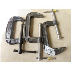 LOT OF 3 C-CLAMPS