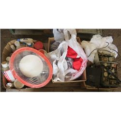 LOT OF SHOP SUPPLIES (ELECTRICAL SUPPLIES, ANTI FREEZE, MULTI PURPOSE CLEANER, ETC)