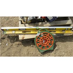 LOT OF 3 ITEMS (2 X LARGE LEVELS) *GARDEN HOSE ON REEL*