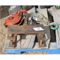 TWO PULLEYS AND  PINTLE RECIEVER
