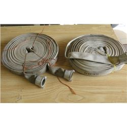 """LOT OF 2 FIREHOSES (1 1/2"""" X 100')"""