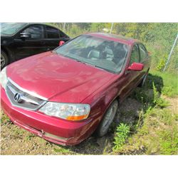 2002 Acura 3.2 TL (red) SALVAGE