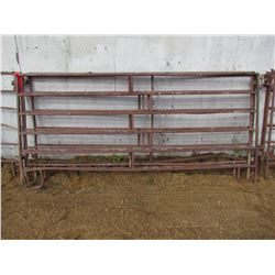 LOT OF FOUR LIVESTOCK PANELS - 10'X5'