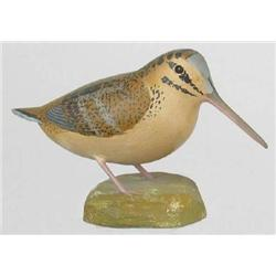 Miniature woodcock signed John E. Davis, Berlin,