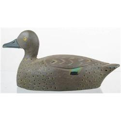Solid body blue wing teal hen decoy from Canada w