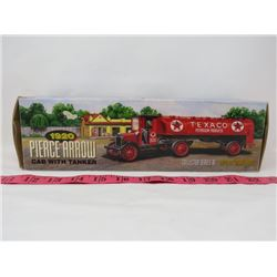 ERTL COLLECTIBLE TEXACO 1920 PIERCE ARROW CAB WITH TANKER BANK