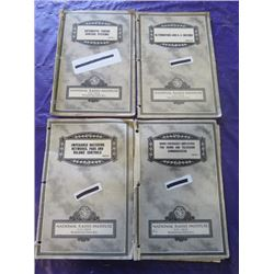 LOT OF NATIONAL RADIO INSTITUTE MANUALS (ALTENATORS AND AC MOTORS, IMPENDANCE MATCHING NETWORKS, PAD