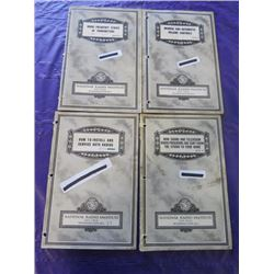 LOT OF NATIONAL RADIO INSTITUTE MANUALS (RADIO FREQUENCY STAGES OF TRANSMITTERS, MANUAL AND AUTOMATI