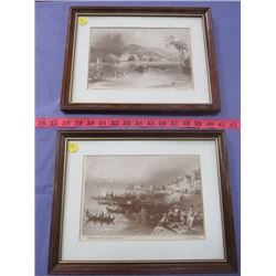 LOT OF TWO PICTURES (FREDRICTON 1840 & MONTREAL 1839)