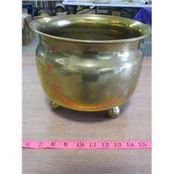 "BRASS PLANTER (9"" H X 10"" DIAMETER)"