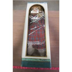 """PORCELAIN DOLL (CENTURY COLLECTION) *25""""* (COMES WITH DISPLAY STAND)"""