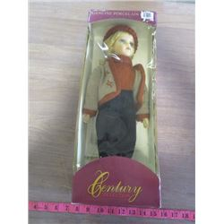 """PORCELAIN DOLL (CENTURY COLLECTION) *17""""* (COMES WITH DISPLAY STAND)"""