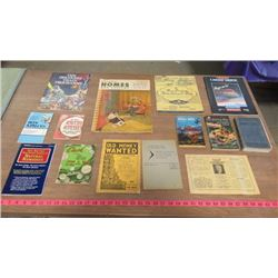 LOT OF 14 BOOKS (VINTAGE) *3 X CURRENCY COLLECTOR BOOKS, NATURAL REMEDIES, CALORIE COUNTER, CANADIAN