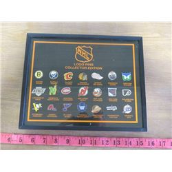 "NHL COLLECTORS EDITION LOGO PINS (FRAMED) *10.5"" X 8.5""*"