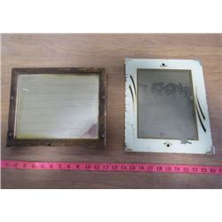 "ART DECO PICTURE FRAME AND MIRROR ( FRAME 12"" X 10"") *MIRROR 11"" X 9""*"