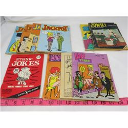 LOT OF 10 ADULT CARTOON BOOKS (VINTAGE) *4 X JACKPOT, 2 X ZOWIE, ETC*