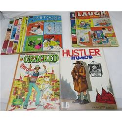 LOT OF 10 ADULT CARTOON BOOKS (VINTAGE) *5 X CARTOONS AND GAGS, LAUGH, ETC)