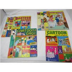 LOT OF 10 ADULT CARTOON BOOKS (VINTAGE) *3 X CARTOON CAPERS, 4 X COMEDY CAPERS, ETC*